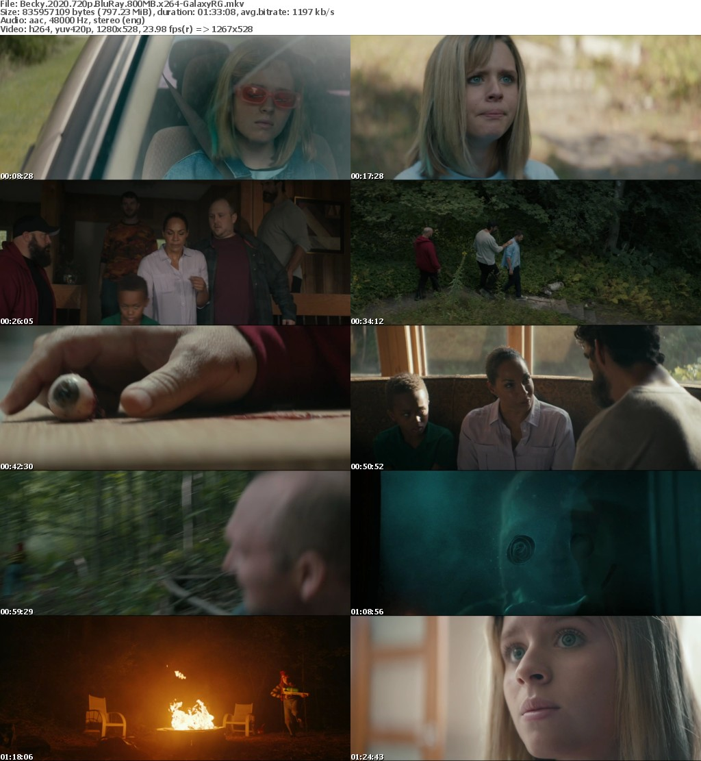 Becky 2020 720p BluRay 800MB x264-GalaxyRG