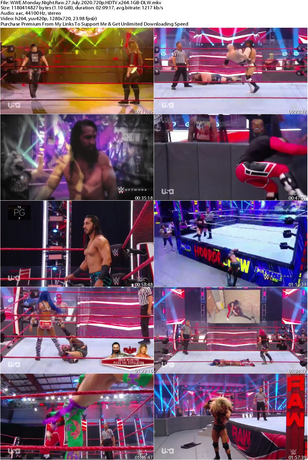 WWE Monday Night Raw 27 July 2020 720p HDTV x264 1GB-DLW