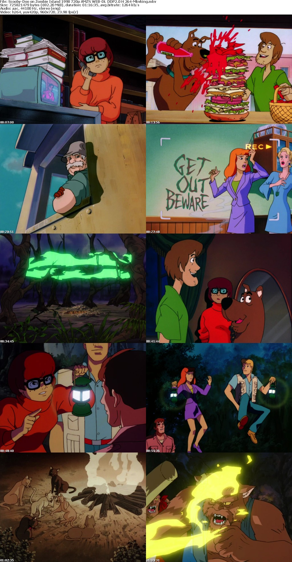 Scooby-Doo on Zombie Island 1998 720p AMZN WEB-DL DDP2 0 H264-Mkvking