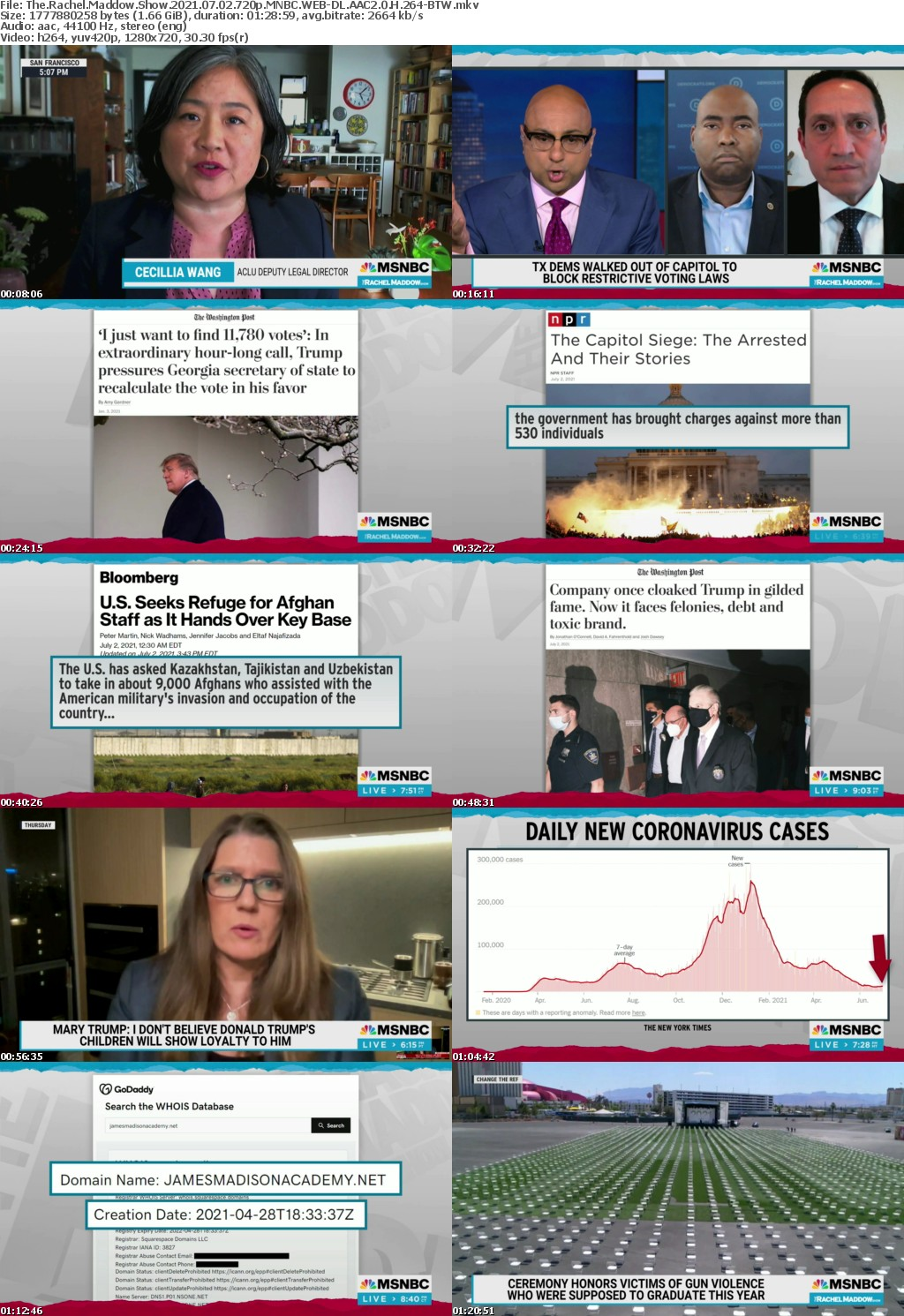 The Rachel Maddow Show 2021 07 02 720p MNBC WEBRip AAC2 0 H264-BTW