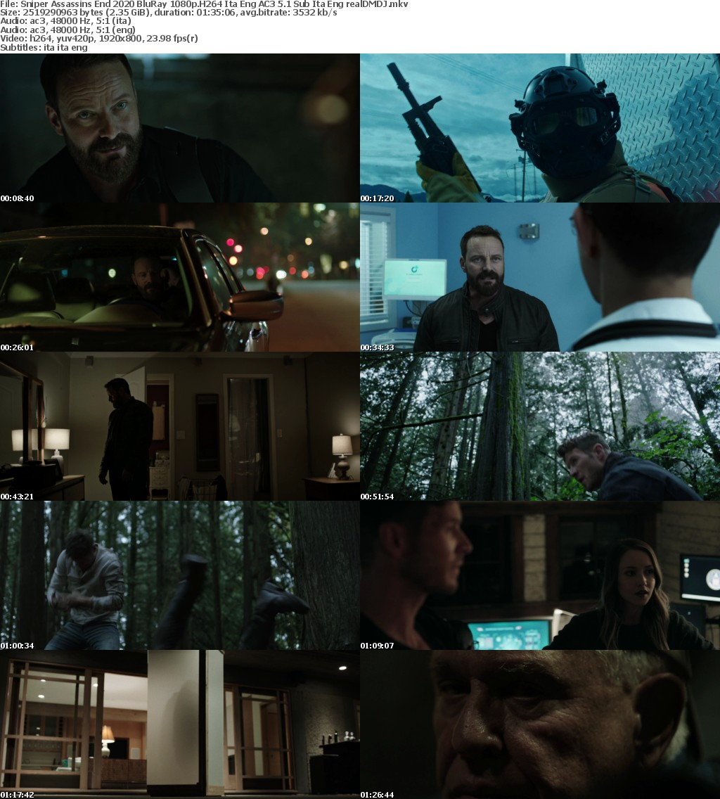Sniper Assassin #039;s End (2020) BluRay 1080p H264 Ita Eng AC3 5 1 Sub Ita Eng - realDMDJ